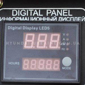 Дизельный генератор Hyundai DHY 6000SE  - МНОГОФУНКЦИОНАЛЬНЫЙ LED ДИСПЛЕЙ Современ...