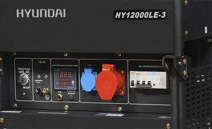 Бензиновый генератор Hyundai HY 12000LE-3  - ПАНЕЛЬ УПРАВЛЕНИЯ Эргономичная консоль в...
