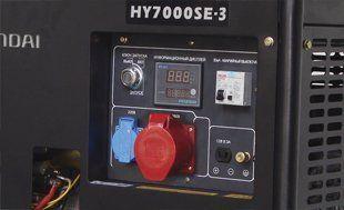 Генератор бензиновый Hyundai HY 7000SE-3  - ПАНЕЛЬ УПРАВЛЕНИЯ...