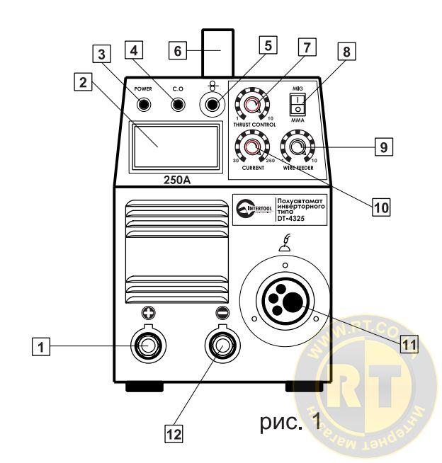 Полуавтомат сварочный инверторного типа 7,1 кВт схема рис.1