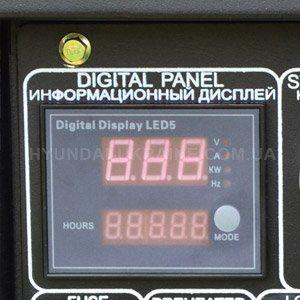 Дизельный генератор Hyundai DHY 8000LE  - ИУЛЬТИФУНКЦИОНАЛЬНЫЙ ДИСПЛЕЙ Светодиодны...