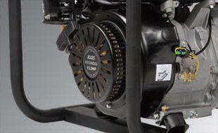 Бензиновый генератор Hyundai HY 12000LE-3  - ДВИГАТЕЛЬ HYUNDAI Бензомотор серии indus...