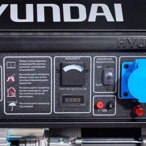 Двухтопливный генератор Hyundai HHY 7010FE ГАЗ-БЕНЗИН  - КОНСОЛЬ УПРАВЛЕНИЯ На единую панель выве...