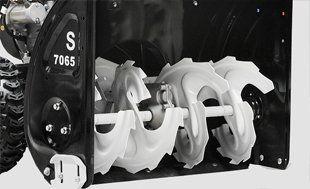Бензиновый снегоуборщик Hyundai S 7065  - МЕТАЛЛИЧЕСКИЕ ШНЕКИ-ЛЕДОРУБЫ Основной ра...