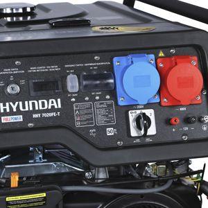 Бензиновый генератор Hyundai HHY 7020FE-T (универсальный 220/380В)  - УДОБНАЯ ПАНЕЛЬ УПРАВЛЕНИЯ На одной...