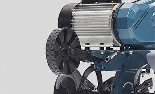 Электрокультиватор Hyundai T2000E  - ТРАНСПОРТИРОВОЧНОЕ КОЛЕСО Благодаря спец...