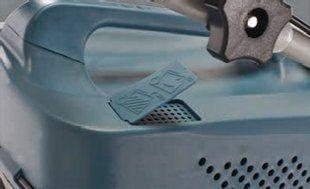 Бензиновая газонокосилка Hyundai L 5500S  - ИНДИКАТОР ЗАПОЛНЕНИЯ ТРАВОСБОРНИКА В вер...