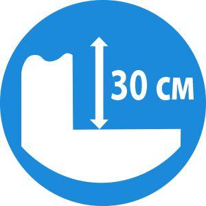 Виброплита Hyundai HPC 400W  - Большая глубина уплотнения – 30 см...