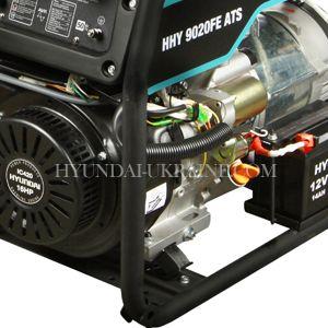 Бензиновый генератор Hyundai HHY 9020FE ATS  - МЕТАЛЛИЧЕСКАЯ РАМА Крепкая конструкция, ...