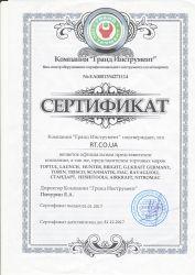 Сертификат TOPTUL