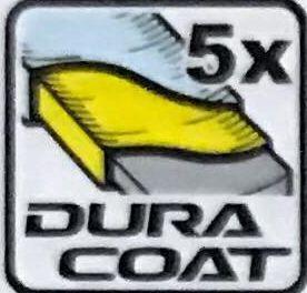 Покрытие DURA - специальное полиэфирное покрытие дает в 5 раз большую стойкость к истиранию, чем обычное акриловое покрытие.