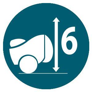 Бензиновая газонокосилка Hyundai L 4610S  - Скашивание травы в 6 разных положениях М...