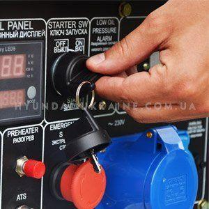 Дизельный генератор Hyundai DHY 6000SE  - ЭЛЕКТРОСТАРТ С помощью данной системы ре...