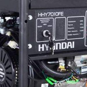 Двухтопливный генератор Hyundai HHY 7010FE ГАЗ-БЕНЗИН  - ЗАМОК ЗАЖИГАНИЯ Генератор укомплектован ...