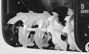 Бензиновый снегоуборщик Hyundai S 5560  - МЕТАЛЛИЧЕСКИЕ ШНЕКИ-ЛЕДОРУБЫ Шнек состои...