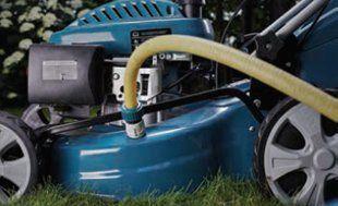 Газонокосилка бензиновая Hyundai L 5100S  - СИСТЕМА ОЧИСТКИ ДЕКИ ПОСЛЕ КОШЕНИЯ На ни...