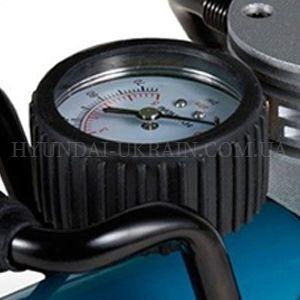 Автомобильный компрессор Hyundai HY 1645  - ТОЧНЫЙ МАНОМЕТР Двухшкальный аналоговый ...