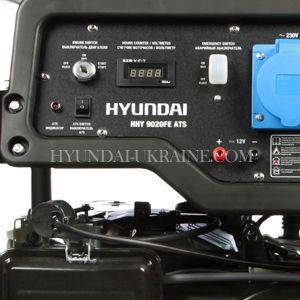 Бензиновый генератор Hyundai HHY 9020FE ATS  - ПАНЕЛЬ УПРАВЛЕНИЯ На одной стороне...
