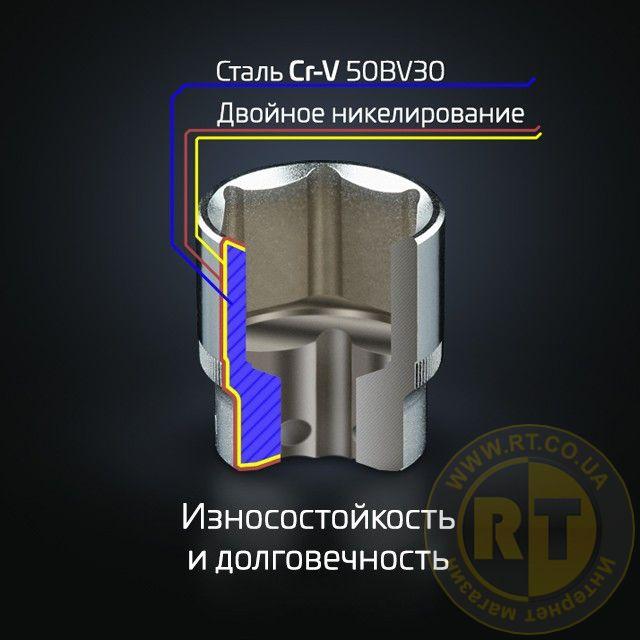 Головки Cr-V 50BV30, Двойное никилирование