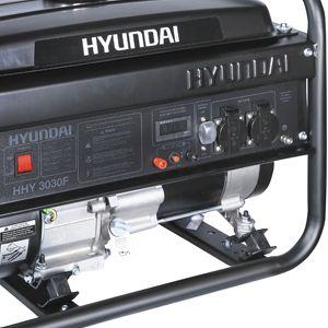 Бензиновий генератор Hyundai HHY 3030F  - МЕТАЛЛИЧЕСКАЯ РАМА Все элементы силовой ...