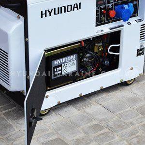Дизельный генератор Hyundai DHY 6000SE  - ШУМОПОГЛОЩАЮЩИЙ КОРПУС С помощью шумоизо...